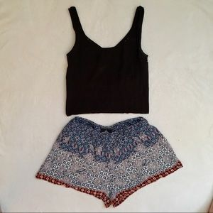 Angie Multicolor Party Shorts